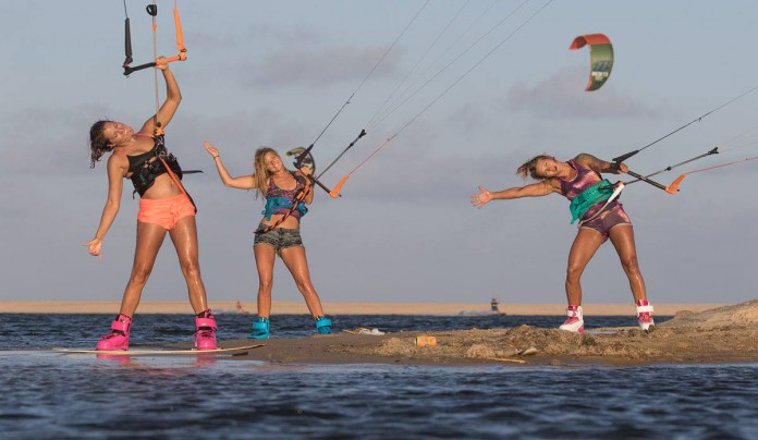 Kitesurf kiteboarding kitesurfing kiteboard women kitesurfer sport photo of the day image images photography Malin-Amle-Kristiin-Oja-Kiteboarding-Sensi-Graves-Bikinis