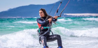Kitesurf kiteboarding kitesurfing kiteboard women kitesurfer sport photo of the day image images photography Gisela Pulido