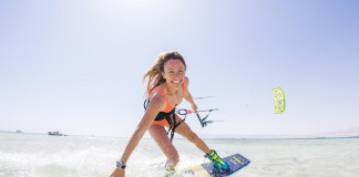 Kitesurf kiteboarding kitesurfing kiteboard women kitesurfer sport photo of the day image images photography Manuela Jungo