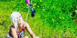 Kitesurf kiteboarding kitesurfing kiteboard women kitesurfer sport photo of the day image images photography Susi Mai