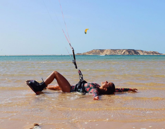 Kitesurf kiteboarding kitesurfing kiteboard women kitesurfer sport photo of the day image images photography sexy Rita Arnaus