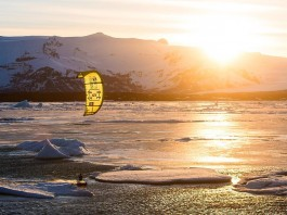 Kitesurf kiteboarding kitesurfing kiteboard women kitesurfer sport photo of the day image images photography sunset