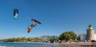Youri Zoon Kiteboarding Orestis Zoumpos jump Kitesurf kiteboarding kitesurfing kiteboard women kitesurfer sport photo of the day image images photography