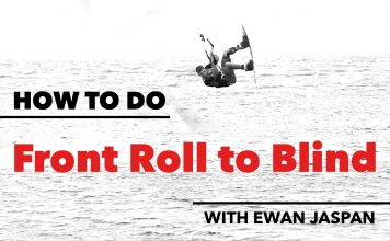 How to do a Front Roll to Blind in Kitesurfing clips kiteboarding kitesurfing kite surfing kiteboard movie video
