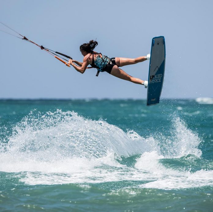 Kitesurf kiteboarding kitesurfing kiteboard women kitesurfer sport photo of the day image images photography Samantha Chilvers