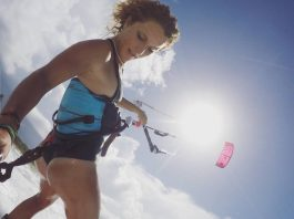 Kitesurf kiteboarding kitesurfing kiteboard women kitesurfer sport photo of the day image images photography Paula Novotna butt
