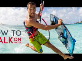 Jesus Walk Kitesurfing Trick - How To Walk On Water (AKA Jesus Style)
