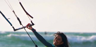 Kitesurf kiteboarding kitesurfing kiteboard women kitesurfer sport photo of the day image images photography kite surf charlotte-carpentier