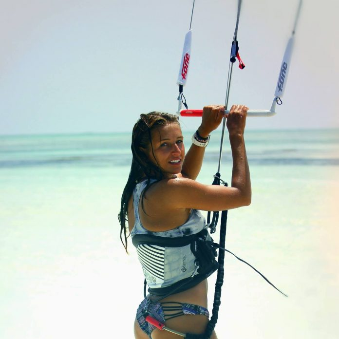 Kitesurf kiteboarding kitesurfing kiteboard women kitesurfer sport photo of the day image images photography kite surf aga-szczepanska-string