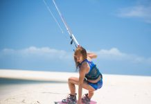 Kitesurf kiteboarding kitesurfing kiteboard women kitesurfer sport photo of the day image images photography kite surf leonie-finke-by-marian-hund